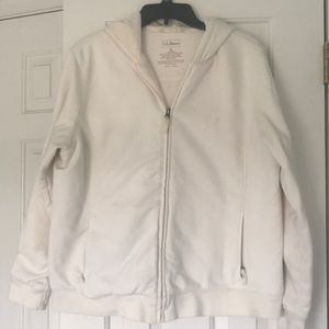 LL BeAn fur lined sweatshirt jacket